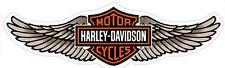 HARLEY DAVIDSON Tan Straight Wing B&S  11.5 inch HARLEY DECAL