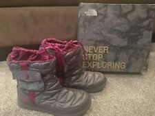 New North Face Women's Thermoball Grey Purple Boots Size US 10