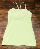 LIGHT GREEN Lululemon tank top YOGA Excellent Used Condition fast ship sz 4 - 6