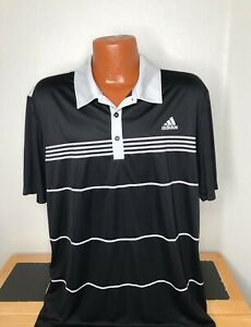 Men's Adidas Climacool Golf S/S Polo/Golf Shirt Size Extra Large (XL) Striped