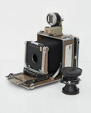 Linhof Technika IV with 90mm lens, lens board, viewer and dark slides.