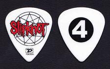 Slipknot Jim Root #4 White Guitar Pick - 2004 Tour