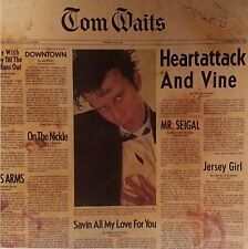 "TOM WAITS ""HEARTATTACK & VINE"" Album Flat/Poster Suitable For Framing-Mint! 1980"