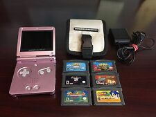 Game Boy Advance GBA SP Pearl Pink AGS 101 Authentic Nintendo -Great Condition-