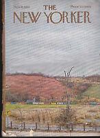 New Yorker Magazine November 9 1968 Albert Hubbell cover