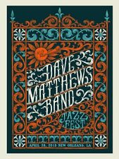 Dave Matthews Band Poster 2013 New Orleans LA Jazz Fest Numbered #/425 Rare!!!