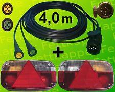 Aspöck Multipoint 3 Leuchten Set - 13polig 4m Kabelbaum - Anhängerbeleuchtung