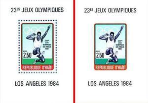 HAITI 1984 LOS ANGELES OLYMPICS x2 S/s MNH SPORTS, TRACK & FIELD