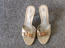 LOL Evening Sandals, Gold, Heels, Size 37 (4), Free Post!
