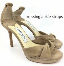Jimmy Choo Marion Beige Suede Platform Heels Sandals sz: US 5   35 - $795
