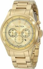 Nautica Men's N22619G BFD 104 Yellow Gold plated Chronograph Sport Watch
