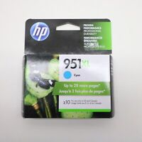 NEW Genuine HP 951XL (CN046AN) Cyan Ink Cartridge Exp. 03/2019