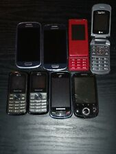 Lot of 8 cellphones/Android*flip*s lide/Samsung(x3),Lg(x4)/At &T*MetroPcs*TracFone