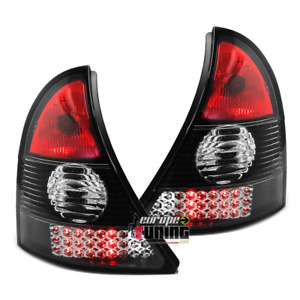 Fari LED Luci Stop Posteriori RENAULT CLIO B MK2 (SOLO 1998-2001) Design Nero