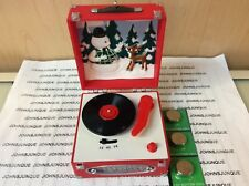 RECORD PLAYER HALLMARK ORNAMENT 2018 RUDOLPH THE RED NOSED REINDEER SOUND/LIGHT
