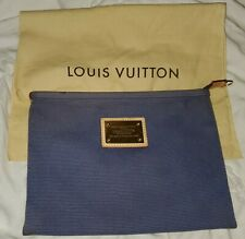 Rare Vintage Louis Vuitton Cabas Antiqua Pochette PM Navy/Blue Pre-Owned