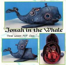 "*NEW* ""JONAH IN THE WHALE""  FOLK ART PDF CLASS TUTORIAL ON CD  BY SUSAN BARMORE"