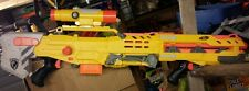 Nerf N-Strike Longshot CS-6 With Front Gun Pistol & scope lot#12 yellow