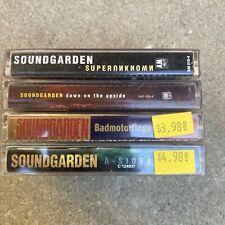 Soundgarden Cassette lot Of 4, Superunknown, Down On The Upside, A-sides, Badmot
