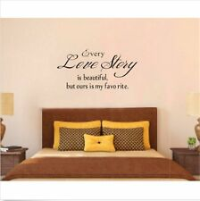 """Quote""""Love Story"""" Vinyl DIY Wall Decal Art Sticker Home Decor Lettering Words"""