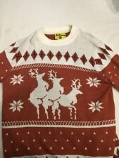"""Christmas - Ugly Christmas Sweater """"Reindeer Games"""" Adult Mens Size XLarge"""