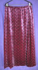LAURA ASHLEY Vintage Maxi Skirt UK14/EU40/US10 Silk Blend Velvet Diamond Pattern