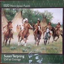 """1000 pc puzzle """"Call to Courage"""" by Susun Terpning Jigsaw sealed New"""