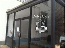 Cafe, Diner Restaurant Business Sign Vinyl Decal Sticker Sign Window Door Glass
