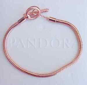 Pandora 589087C00 T-Verschluss Schlangen-Gliederarmband Rose 21 cm ALE MET