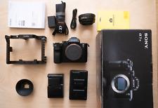 Sony A7s ii, Simple Rig cage, VILTROX Nikon-NEX lens adaptor and 2 Batteries