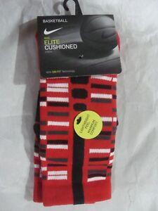 Nike Elite Cushioned Crew Socks SX7010 657 Size Women 4 - 6,Youth 3Y - 5Y