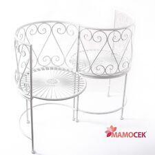 PANCA PANCHINA DIVANO divanetto a S da giardino FERRO bianco cm.108 Shabby CHIC