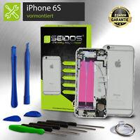 Backcover für iPhone 6S in Silber VORMONTIERT Gehäuse Rückseite + Tasten +Kleber