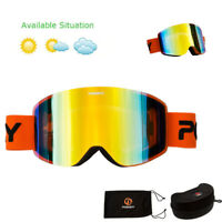 Ski Goggles Winter Snow Sports Snowboard Goggles Anti Fog Men Women Skiing Glass