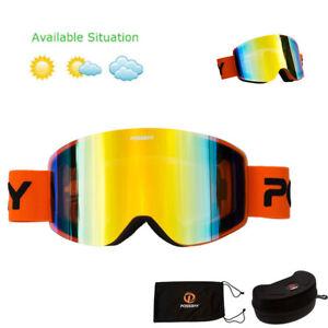 PC Ski Goggles Winter Snow Sports Snowboard Goggles UV400 Men Women Skiing Glass