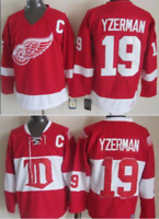 Red Wings Steve Yzerman Hockey Jersey Red Stitched M, L, XL, 2XL, 3XL