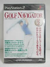 PlayStation2 -- GOLF NAVIGATOR Vol.2-- NEW & Sealed! JAPAN GAME. PS2. 33639
