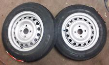 Pair Trailer Wheel & Tyre 100mm PCD 145/80 13inch  ANSSEMS BRENDERUP TEMA