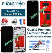 écran complet LCD + tactile Huawei P20 Lite Noir + Outils, stock FR