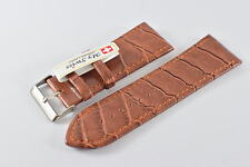 My Swiss Leather Strap Watch Bands Crocodile Pattern  Width 30mm. Brown color