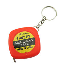 2 Pcs Multifunction Red Case 1 Meter 3 Feet Mini Tape Measure w Key Ring LW