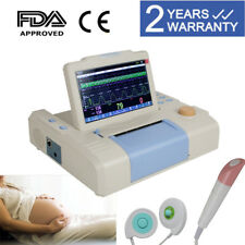 7 Color Lcd Tft Fetal Monitor Fhr Toco Fetus Thermal Recorder Ultrasonic Probe