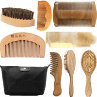 Beard Brush Boar Bristle Comb Mens Mustache Care Grooming Tool Shears Scissors