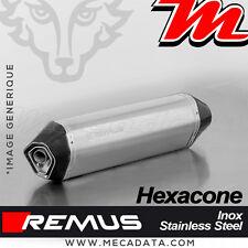 Silencieux Pot d'échappement Remus Hexacone inox Triumph Trophy SE 2012