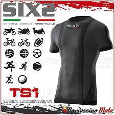 SIXS SIX2 TS1 UNDERWEAR T-SHIRT MAGLIA INTIMA MANICA CORTA BLACK CARBON TG. XL