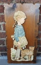 Vintage Holly Hobbie 3D wall Picture  hand made