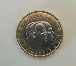 +°+°+°  PIECE 1 EURO MONACO  2001 EN TRES BON ETAT +°+°+°