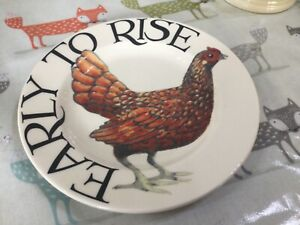 Emma Bridgewater Early to Rise Hens Chickens  6.5  Plate Best New Discontinued