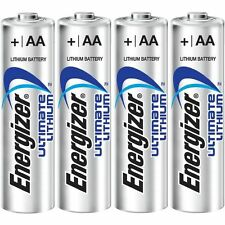 12 ENERGIZER AA ULTIMATE LITHIUM BATTERIES FOR DIGITAL CAMERA LOOSE IN FLAT PACK