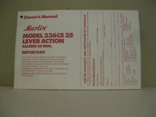 MARLIN Model 336CS 35 Lever Action Owner's Manual Cal. 35 Rem.
